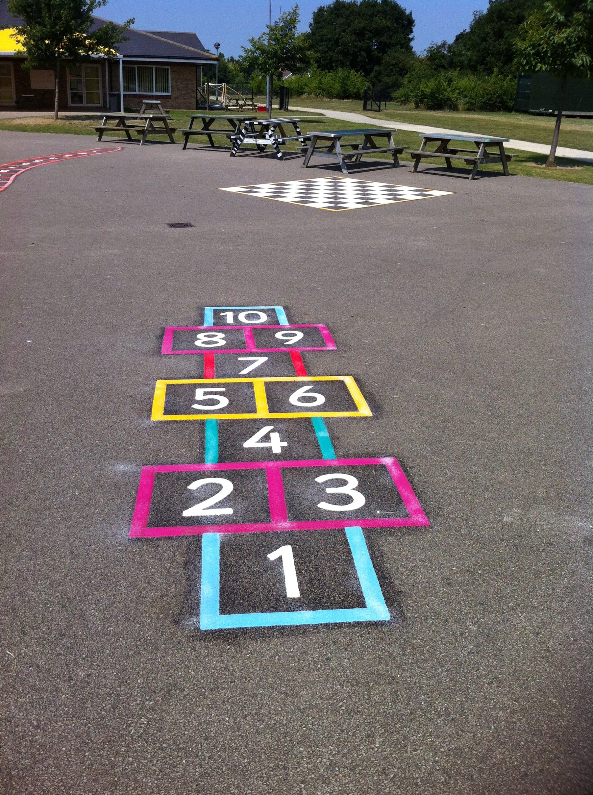 Playground markings in Cornwall and Devon