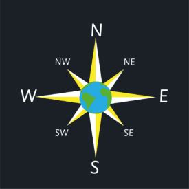 8 Point Earth Compass
