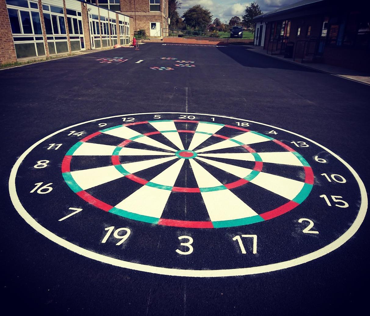 playground marking darts