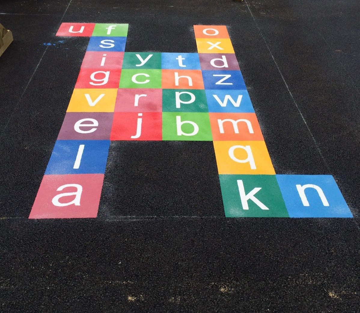 letters playground marking