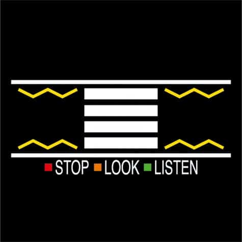Stop look listen playground markings