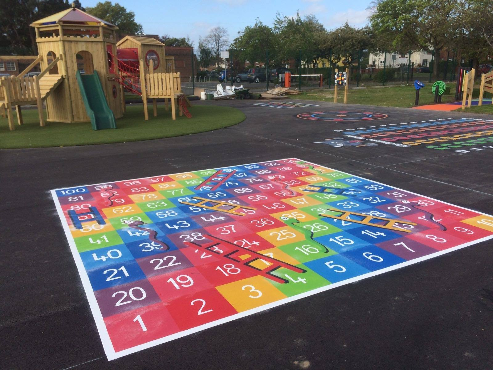 snakes and ladders playground markings