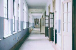 Inside a School Building