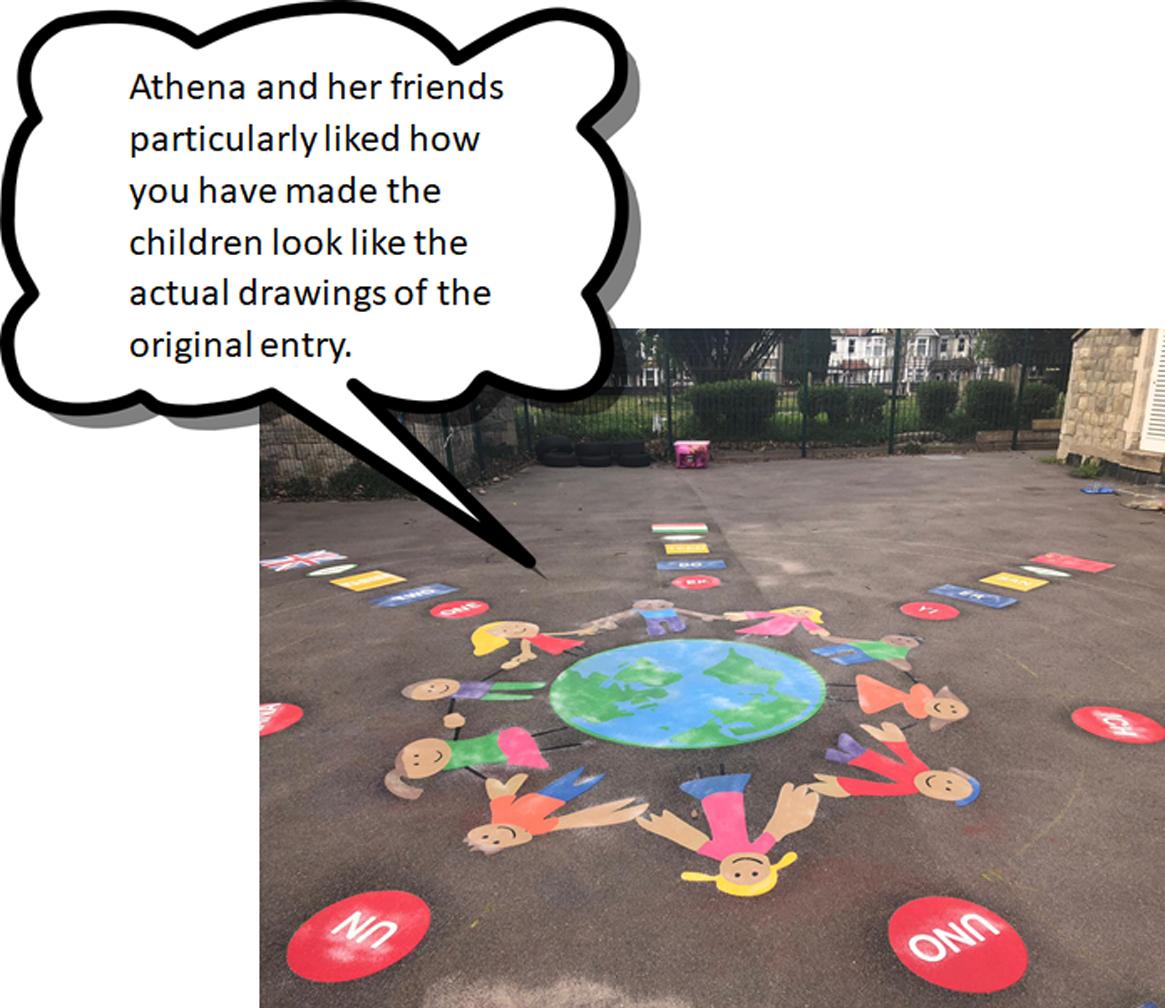Athena's winning school design installation