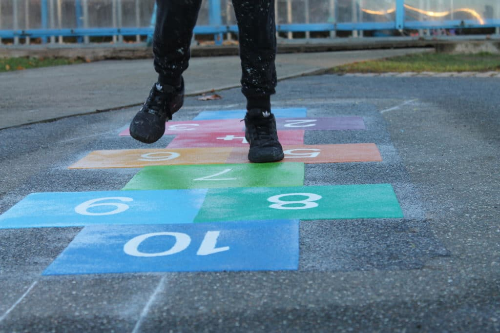 Painted Games on Playground