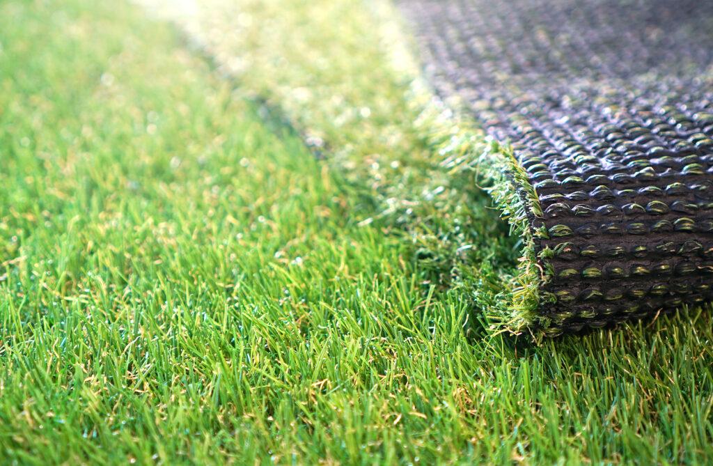 An artificial grass strip
