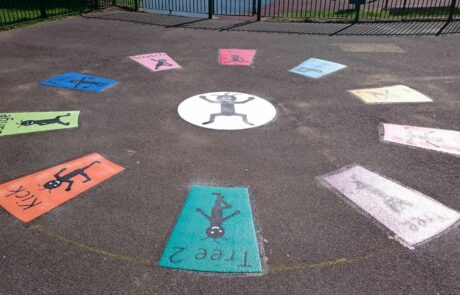 fitness and exercise playground markings