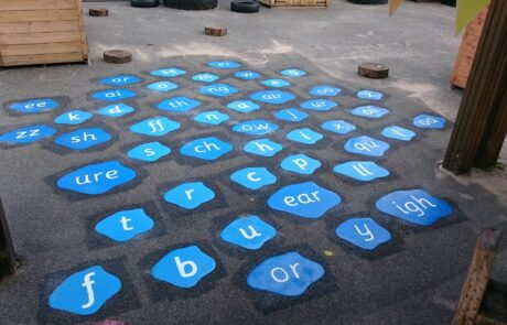 phonic playground markings at a school