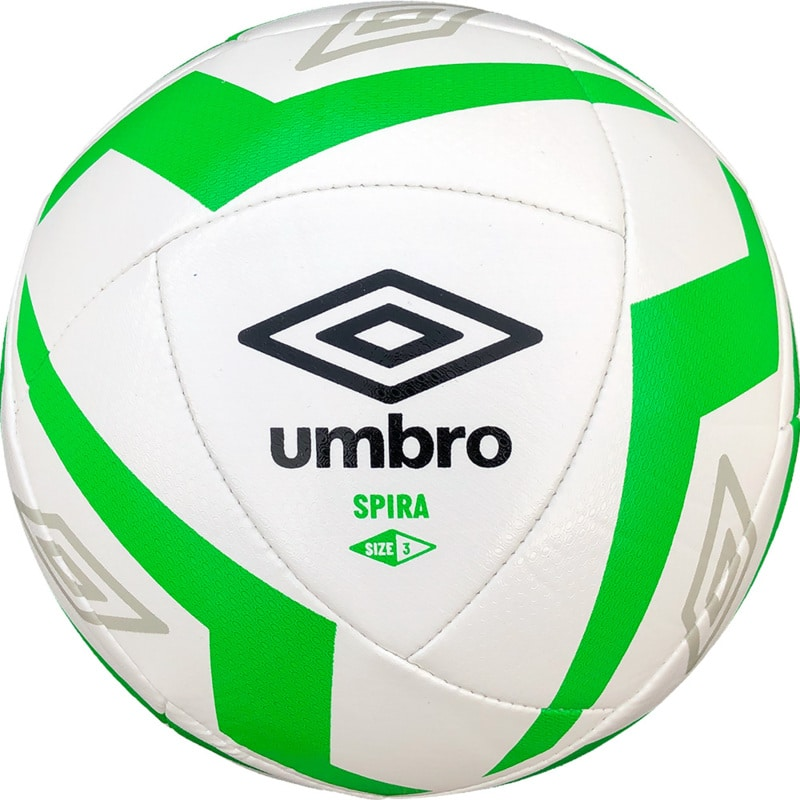 Umbro Spira White Football - Size 3 - Green Flash