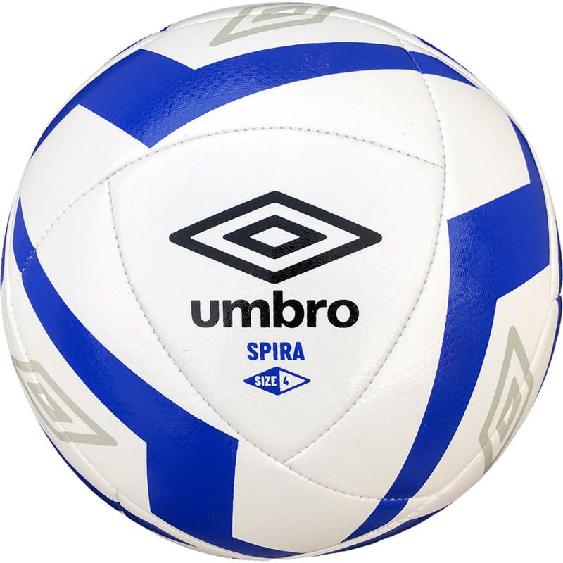 Umbro Spira White Football - Size 4 - Blue Flash