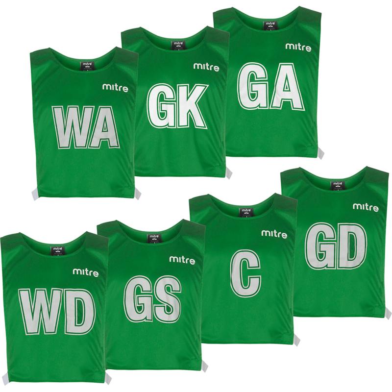 Mitre Standard Mesh Netball Bibs - Emerald Green