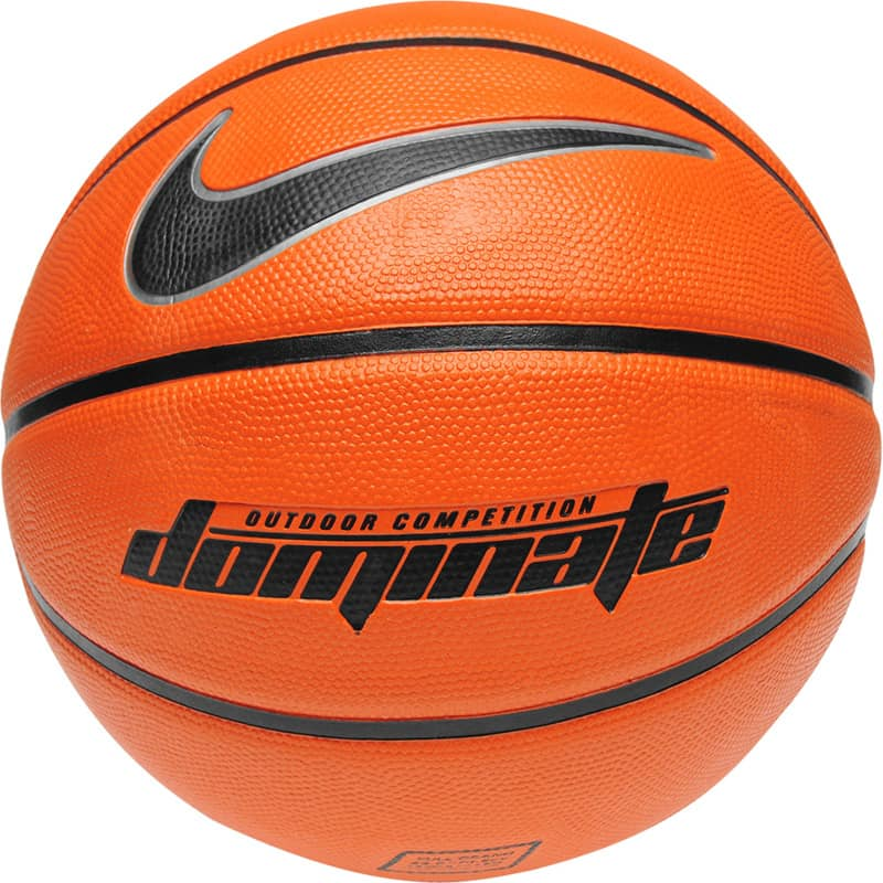 nike dominate tough and durable orange basketball